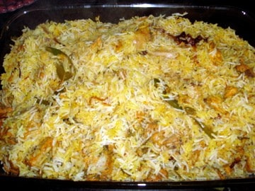 chicken biryani, chicken dum biryani, hyderabad chicken biryani