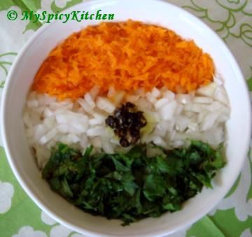 carrot pachadi, carrot salad