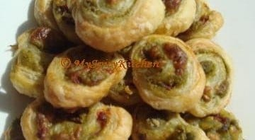 Cilantro Pesto Pinwheels