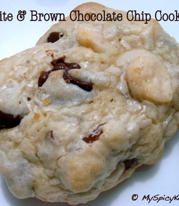 White & Brown Chocolate chip oatmeal cookies