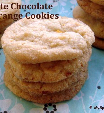 White Chocolate & Orange Cookies