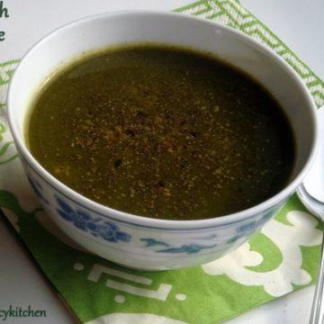 Spinach Orange Soup