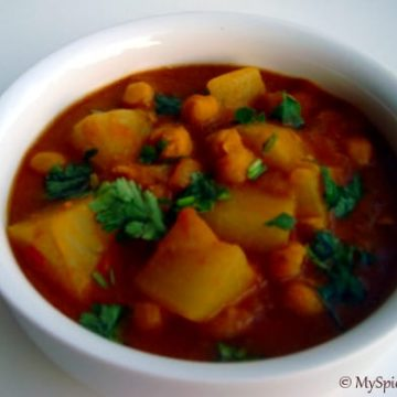 radish chickpeas curry