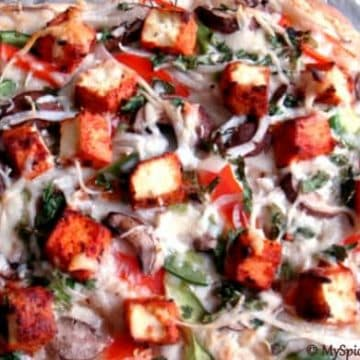 Tandoori Tofu, Vegetable Pizza