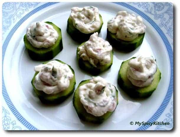 Cream Cheese Stuffed Cucumber