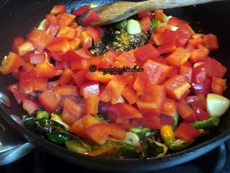 Red bell pepper chutney