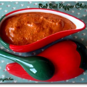 Red bell pepper chutney, Red bell pepper pachadi