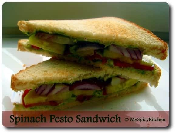 Spinach Pesto Sandwich