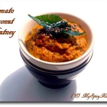 Tomato Coconut Chutney, tomato kobbari pachadi, tomato thokku, sanjeev kapoor recipe