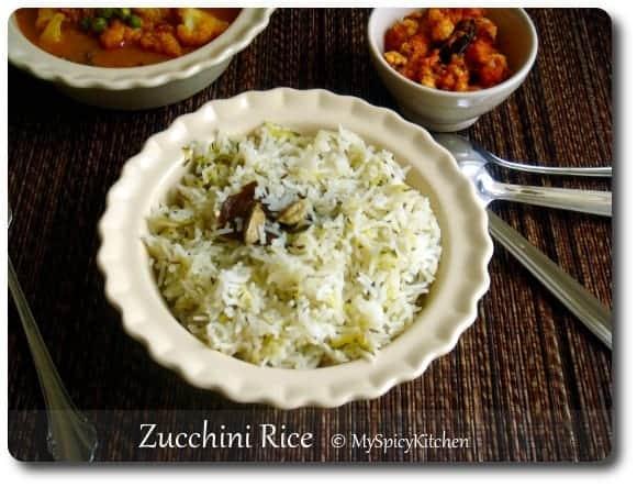 Zucchini Rice, Manjula's Kitchen Zucchini Rice