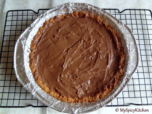 Mexican Chocolate Pie, Cooking Light, Chocolate Mela, Blogging Marathon, Chocolate Pie
