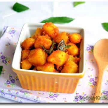Potato Raost, Simple Potato Raost, Aloo Roast, Alu Roast, Indian Potato Curry, Potato Fry, Alugadda Kura