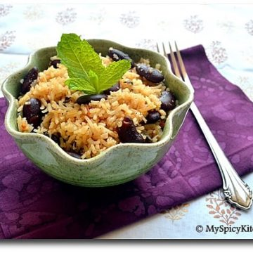 Kidney Beans Rice, Rajma Pulao, My Legume Love Affair,