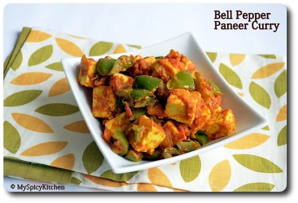 Paneer capsicum curry, kadai paneer, dish it out