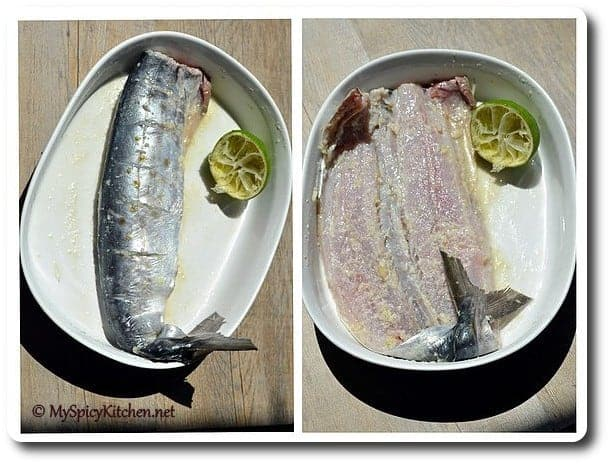 Anjum's New Indian Grilled Stuffed Fish, Grilled Spanish Mackerel,