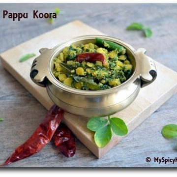Fenugreek Dal Stir Fry, Fenugreek Leaves Cook Toor Dal Stir Fry, Menthi Aaku Pappu Koora, Cooking With Pedatha