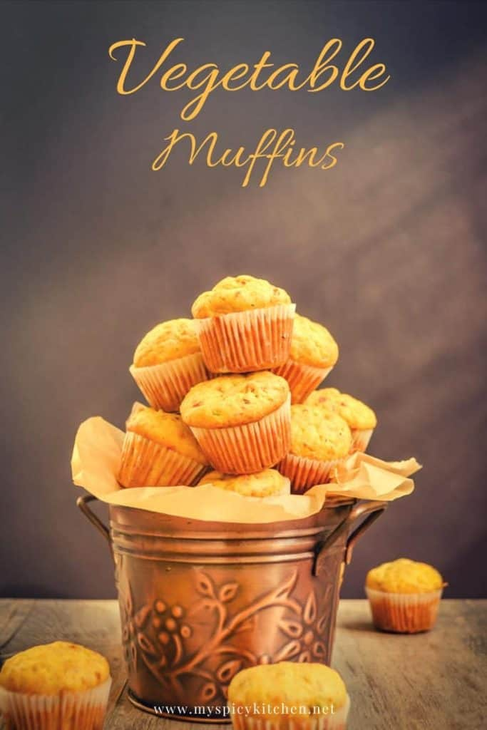 Savory vegetable muffins