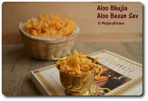 how to prepare aloo bhujia sev