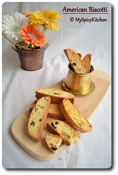 American Style Pistachio Raisin Biscotti | My Spicy Kitchen