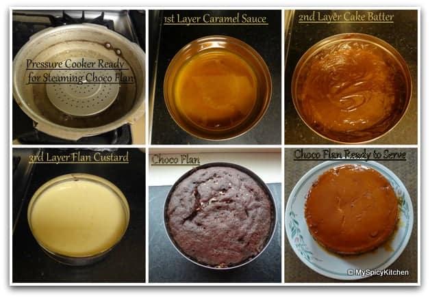 Blogging Marathon, Pressure Cooker Recipe, Mexican Flan, Impossible Cake,  Impossible Cake Preparation