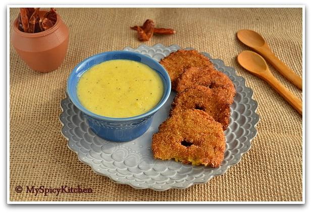 Makhai ka Vada Makhai ki Kheer in a plate