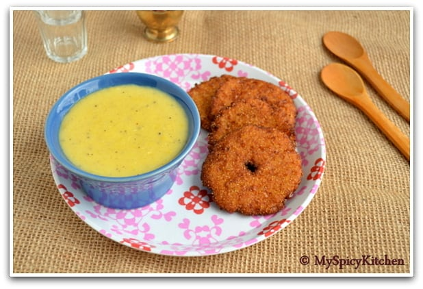Pala Padiyum Makha Garelu in a plate