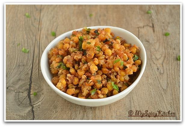 Blogging Marathon, Crispy Sweet Corn, Taste of Tropics - Corn