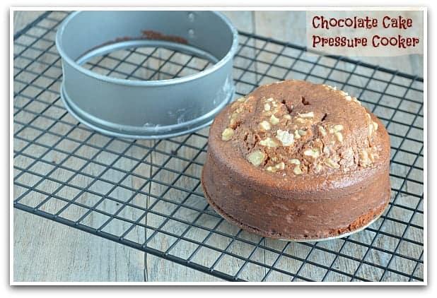 Butterscotch Cake Recipe In Pressure Cooker: Eggless Chocolate Cake In A Pressure Cooker