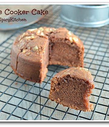 Pressure Cooker Recipe, Eggless Chocolate Cake, Blogging marathon