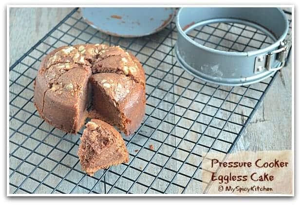 Pressure Cooker Recipe, Eggless Chocolate Cake, Blogging maratho