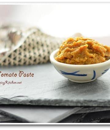 Onion masala paste, masala paste for curries, onion tomato paste, curries, kitchen basics, blogging marathon