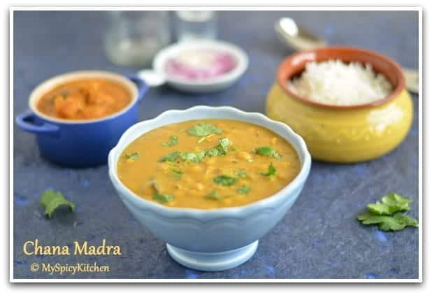 Channa Madra, Chickpeas in a yogurt gravy, Chickpeas Yogurt Curry, Blogging Marathon, Pahari Food, Himachali Cuisine