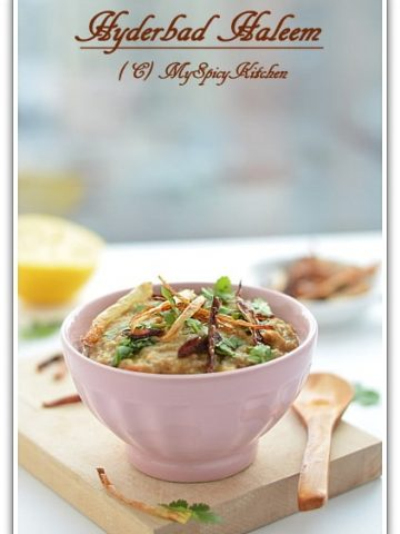 Haleem, Hyderabad Cuisine, Lentils meat porridge