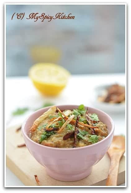 Haleem, Hyderabad Cuisine, Lentils meat porridge