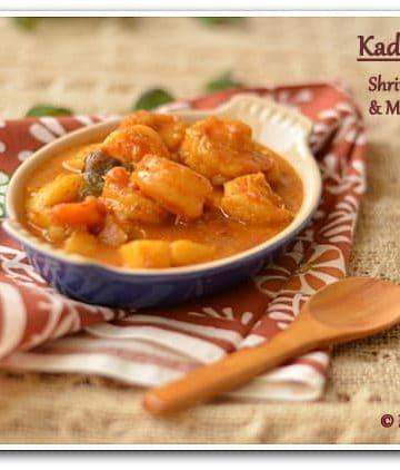 Coconut Mustard Shrimp, Mustard Shrimp, Mustard Prawn Curry, Blogging Marathon, Pondicherry Food,
