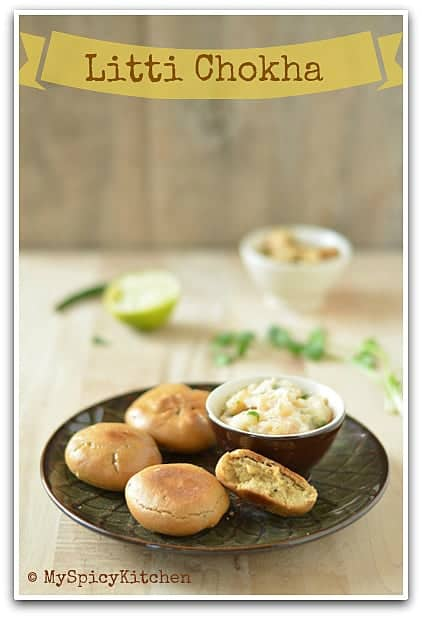 Blogging Maraton, Litti Chokha, Bihari Cuisine, Litti, Chokha