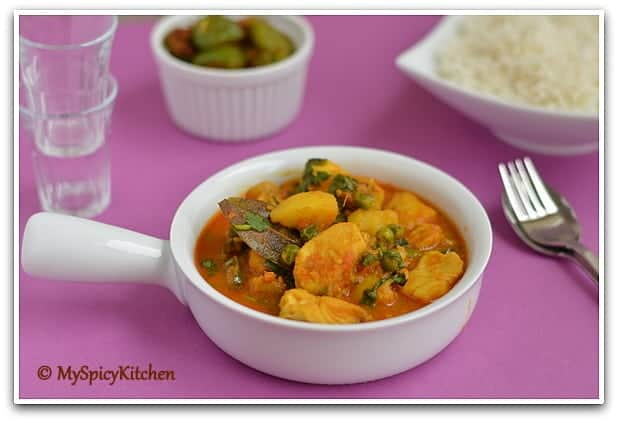 Manipur fish curry, Blogging marathon, manipuri cuisine