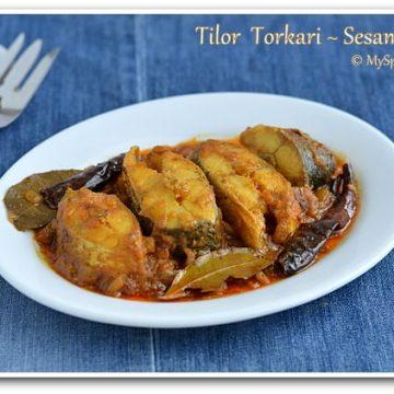 Assamese Cuisine, Sesame Fish, Blogging Marathon,