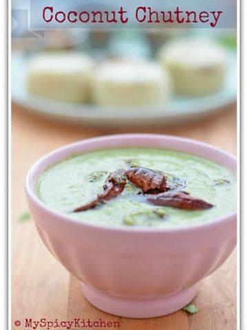 Kobbari Pachadi, coconut pachadi, blogging marathon, cooking from cookbook
