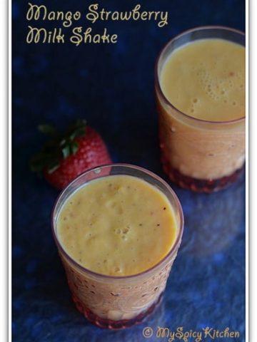 Mango Strawberry Milkshake
