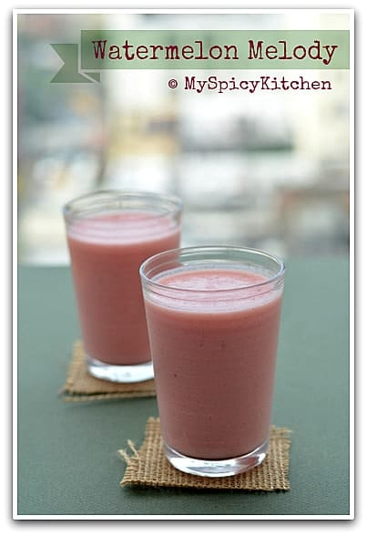 Smoothie, Watermelon Banana Smoothie, Watermelon Recipe, Banana Recipe,