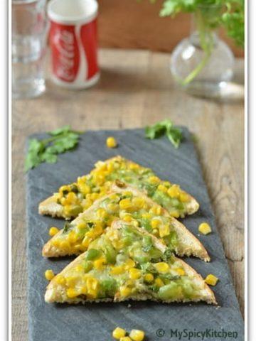 Corn capsicum toasties, Cooking from cookbooks challenge,