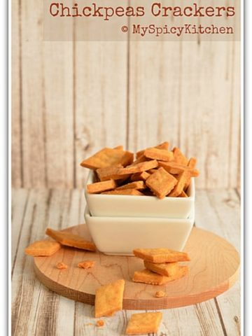 Gram Flour Crackers, Spicy Crackers, Savory Crackers, Home Bakers Challenge.