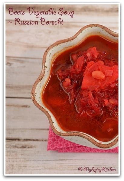 Russian Soup, Ukrainian Soup, Beets Soup,