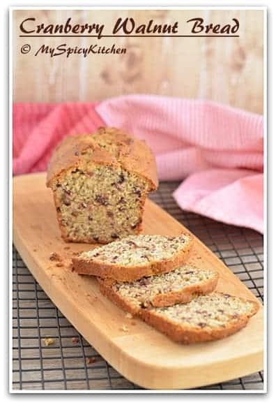 Blogging Marathon, Baking Marathon,  FireUpYourOven, Cranberry Walnut Muffin,   King Arthur Flour Recipe, Sweet Bread, Thanksgiving recipe, Cranberry bread