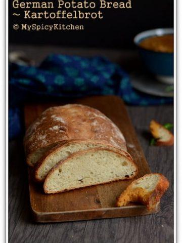 Blogging Marathon, Baking Marathon, FireUpYourOven, Fire Up Your Oven, Breads, Potato Bread, German Bread, German Food, German Cuisine,
