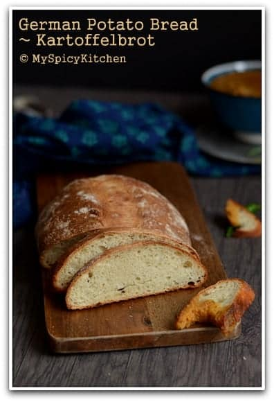 German Potato Bread, Blogging Marathon, Baking Marathon, FireUpYourOven, Fire Up Your Oven, Breads, Potato Bread, German Bread, German Food, German Cuisine,