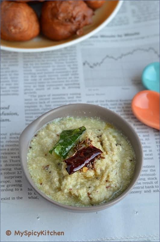 Kobari Pachadi, Kobari chutney, Coconut pachadi, blogging marathon, buffet on table,