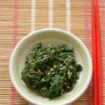Hourensou No Gomaae ~ Japanese Spinach Salad with Sesame Sauce