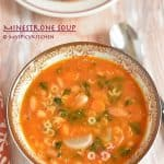 Minestrone Soup & Cheese Bruschetta